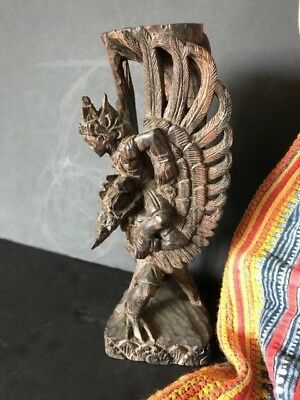 Old Javanese Carved Wooden Figurine …beautiful collection item