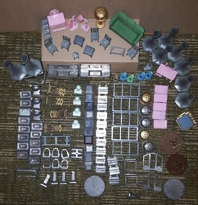 Tootsietoy Dollhouse Lot Toys Vintage