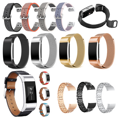 Replacement Bracelet Strap Watch Band Stainless Steel Nylon For Fitbit Charge 2