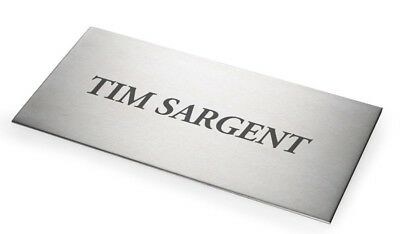 Sandleford STAINLESS STEEL CUSTOM SIGN - 100x200mm, 150x300mm Or 200x400mm