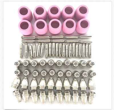 WSD60 WSD60P AG60Plasma Cutter Consumables Torch Electrode Tip Nozzle Kit 80pcs