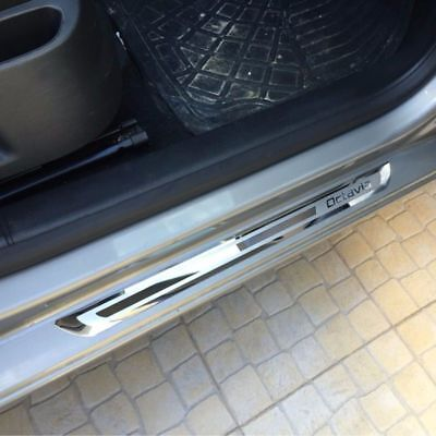Car Accessory Styling Stainless Steel Door Sill Scuff Plate Skoda Octavia A5 A7