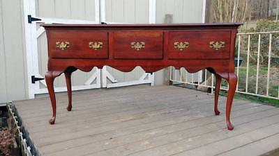 Vintage Cresent Furniture Solid Cherry Wood Queen Anne Huntboard/Sideboard