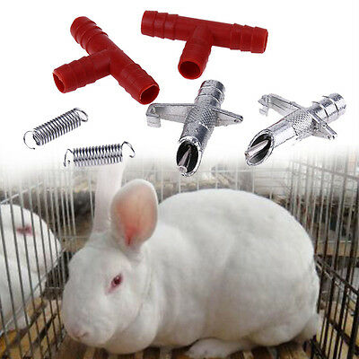 Automatic Nipple Water Feeder Rabbit Bunny Waterer Drinker Rodent Poultry Farm