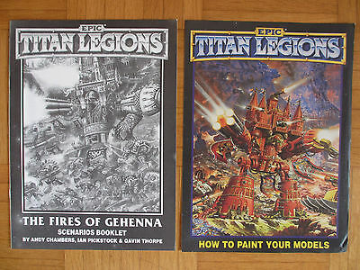 WARHAMMER EPIC - TITAN LEGIONS – THE FIRES OF GEHENNA + Paint Models - English