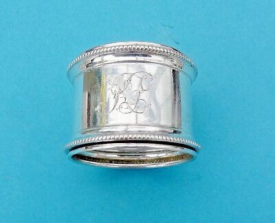 Antique STERLING SILVER NAPKIN RING -Birmingham 1909 - C T Burrows
