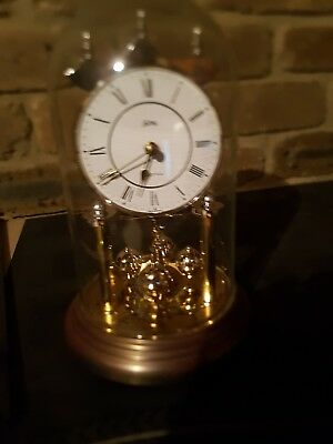 Hermle Quartz Anniversary Dome Clock  Made In Germany