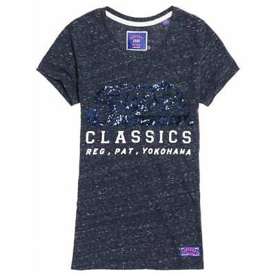 T-shirt Superdry femme classic sequin entry eclipse