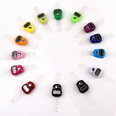 Mini Digital LCD Electronic Hand Finger Tally Counter For Golf Multicolor Dock