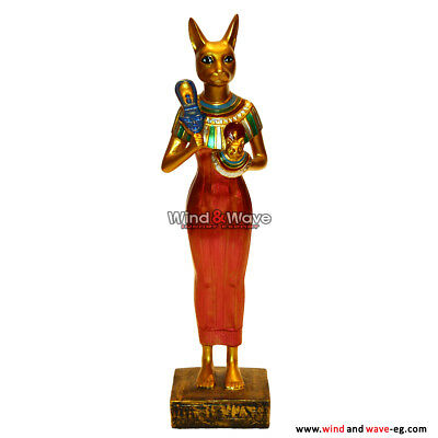 Unique Ancient Egyptian Cat Bastet Goddess Statue