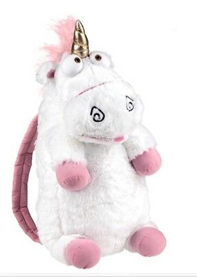 "Despicable Me Unicorn Plush Backpack ""IT'S SO FLUFFY""! Universal Studios USA NWT"