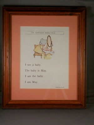 Sunbonnet Babies - Page 7 - Framed Reproductions from 1903 Primer - NEW