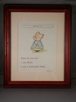 Sunbonnet Babies - Page 9 - Framed Reproductions from 1903 Primer - NEW
