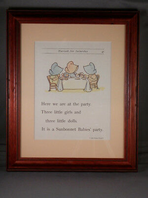 Sunbonnet Babies - Page 47 - Framed Reproductions from 1903 Primer - NEW