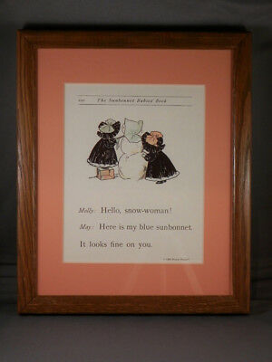 Sunbonnet Babies - Page 100 - Framed Reproductions from 1903 Primer - NEW