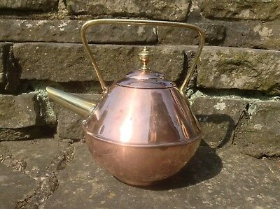 Benham & Froud Aesthetic Movement Copper And Brass Kettle By Christopher Dresser