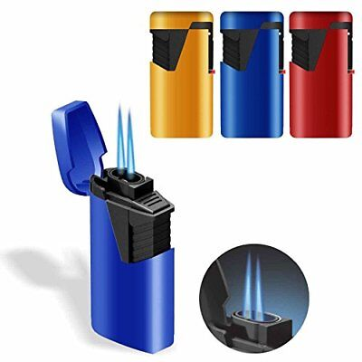 Zenga ZL-9 Twin Turbo Jet Windproof Blue Flame Rubberized Lighter - LOWEST PRICE