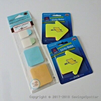 *LOT OF 4* Martha Stewart Office Note Memo Tabs Notetabs /& Sticky Note