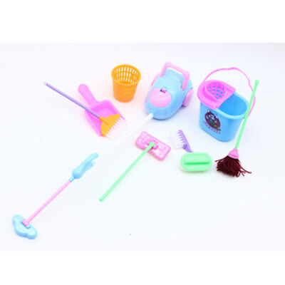 9Pcs/Set Cleaning Tool House Supplies Kids Children Pretend Broom Funny