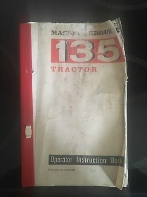 MF 135 Tractor Operator Instruction Book