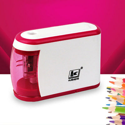 Automatic Electric Pencil Sharpener Battery Operated Two Holes Supplies