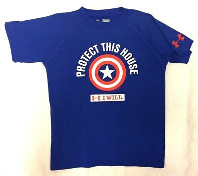 Boys Youth Medium (Ymd) Under Armour / Captain America Protect This House Shirt