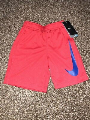NEW toddler boys Nike dri fit athletic basketball red blue mesh shorts size 2T
