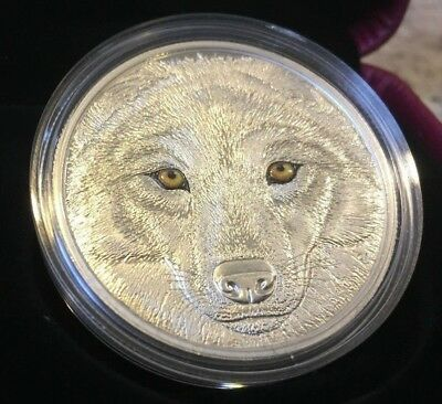 2017 In The Eyes Of The Wolf Glow-in-the-Dark Pure .9999 Silver Coin Canada