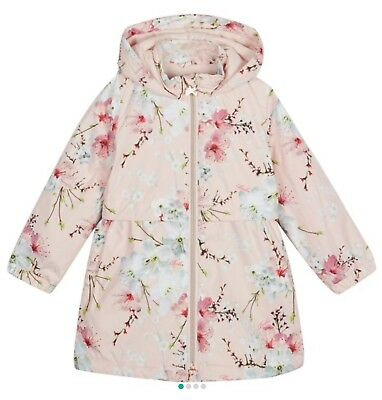BNWT-Baby Girls Light Pink Ted Baker  floral Jacket Age 12-18 Months RRP£42