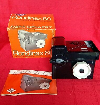 Vintage Agfa Rondinax 60 Daylight Developing Tank Boxed & Instructions