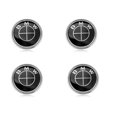 4x Wheel Rim Center Caps Hub Emblem Logo Badge Black 68MM For BMW 36136783536