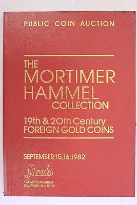 Stacks Auction 1982 Mortimer Hammel Collection - 19th Century Gold Coins