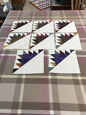 "8 Patchwork Quilt Blocks 8""sq"