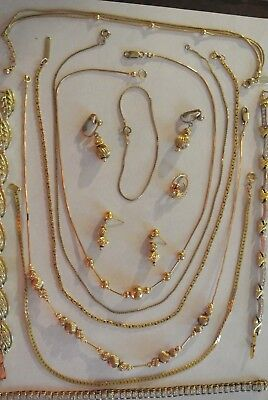 Lot Of Vintage Jewelry Some Old Gold Filled & Signed Pcs Necklaces Bracelets Mor