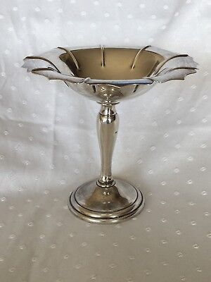 Clarence A Vanderbilt New York .925 Sterling Silver Tall Compote Dish 200g