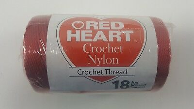 Nylon Crochet Thread Size 18 Red Heart Part 138 1 Color 0091 Red