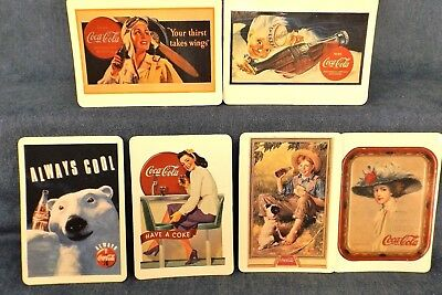 Coca-Cola Magnetic Postcards - Set Of 6 - Can Be Mailed - 1994