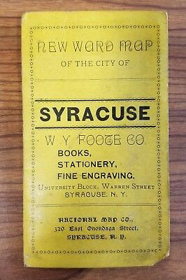 New Ward Map of the City of Syracuse New York National Map Co c 1897 16.5x18.75