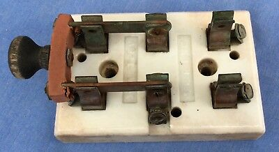 antique •ELECTRICAL• old Hit & Miss engine early motor scientific •KNIFE SWITCH•
