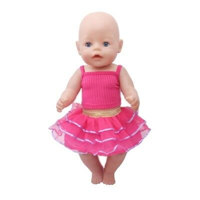Puppenkleidung, Outfit, Top + Rock, Pink, 43 cm, zb. Baby Born/Sister, NEU