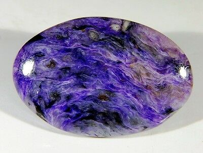 60 Ct High Quality Natural Antique Designer Charoite Oval Cabochon Gemstone B29