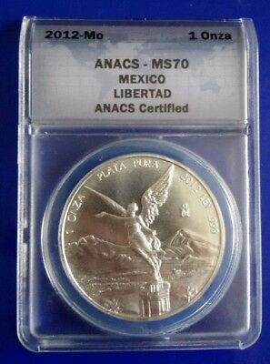 2012 Mexico Libertad 1oz Silver Bullion Coin NGC MS70