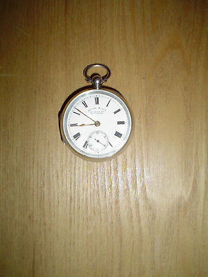 silver pocket watch running order and very good condition Squire & son Rideford