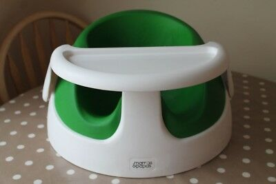 mama and papas snug seat lime green - with tray