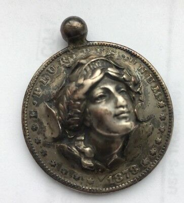 1878 Morgan Silver Dollar, Liberty Pop-Out Repousse Bezel Necklace Pendant Rare!
