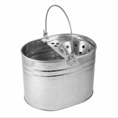 New Heavy Duty Metal Mop Bucket Galvanised Strong 16 Litre Capacity For Cleaning
