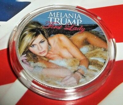 Melania, Mrs. Trump Our 1st Lady -1x Silver Plated Commemorative Novelty ArtCoin