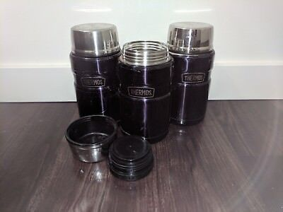 LOT 3 Thermos Stainless King 24-Ounce Food Jar, Midnight Blue
