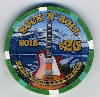Hard Rock Lake Tahoe $25 Rock 'n Roll chip - UNCIRCULATED