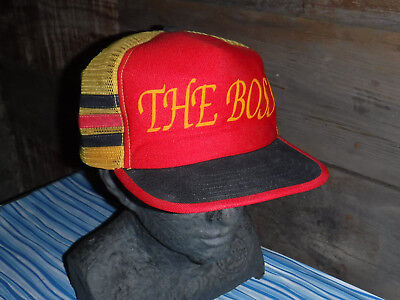Vintage 1970's The Boss Snap Back Trucker Hat Made In Usa L@@k